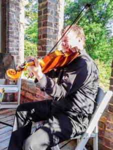 Chuck playing viola