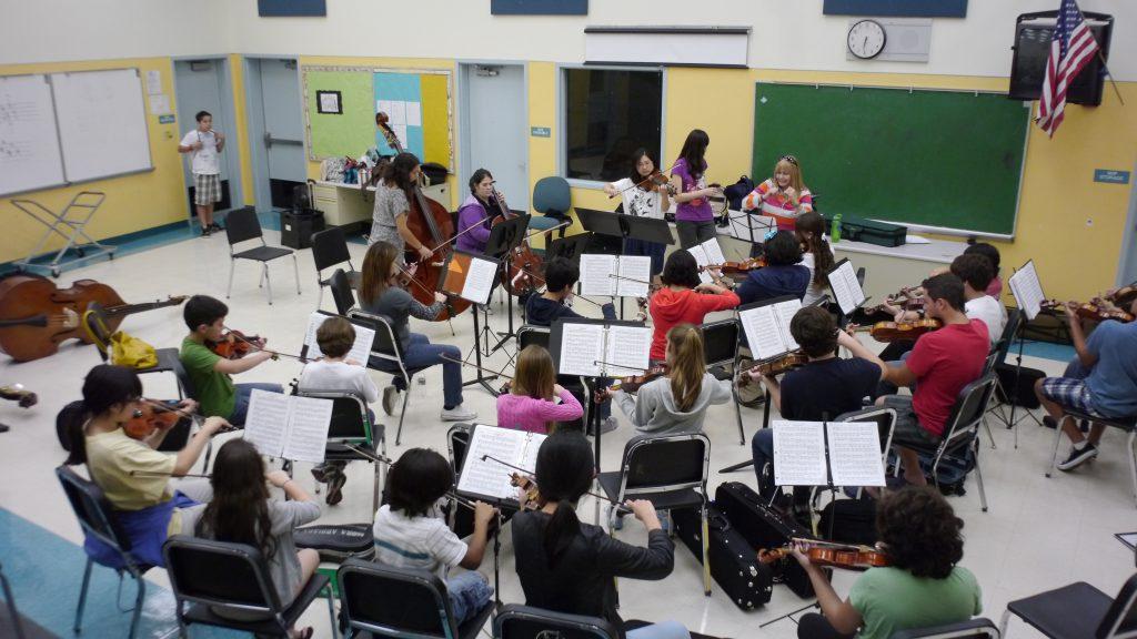 violin lesson room