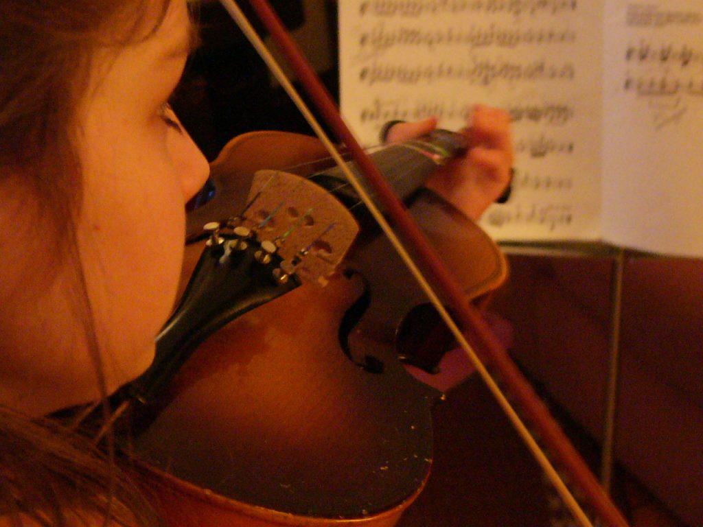 Girl Violin Practice